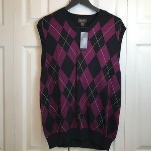 Tasso Elba Mens Argyle Golf Sweater Vest NWT sz L